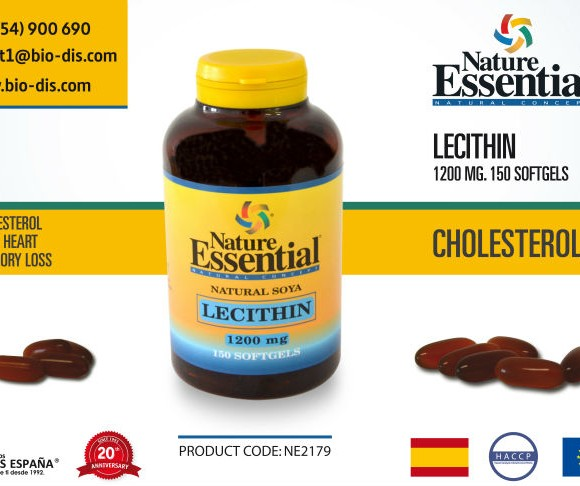 Lecithin-1200mg-150-Softgels-Food-supplement